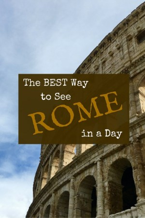 A tour group with no more than six members led by a highly-qualified guide is the BEST way to see Rome in a day!