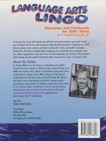 Howard Blount Language Arts Lingo Book Back
