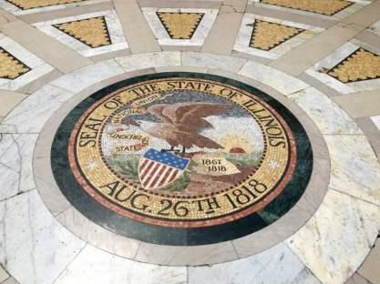 Vicksburg National Military Park Illinois Memorial State Seal