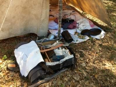 Civil War Reenactment Camp