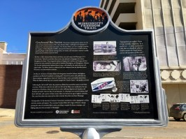 Greyhound Bus Station Jackson Mississippi Historical Marker