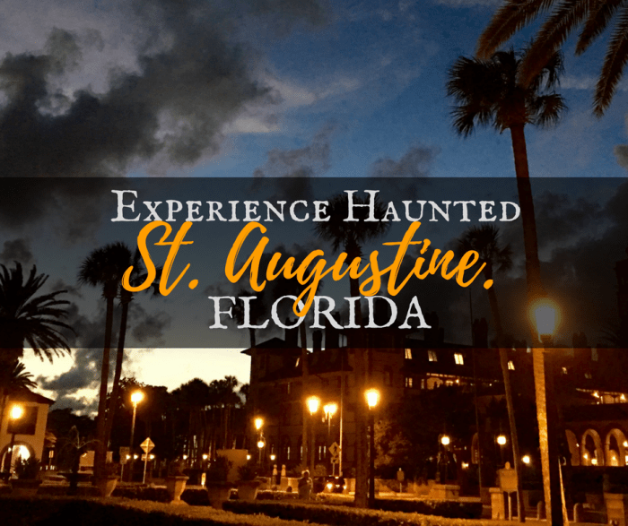 Experience Haunted St. Augustine, Florida