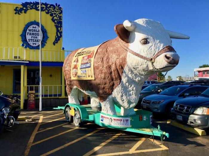 Big Texan Amarillo Texas Hereford Statue