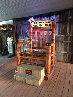 Big Texan Amarillo Texas Big Rocking Chair