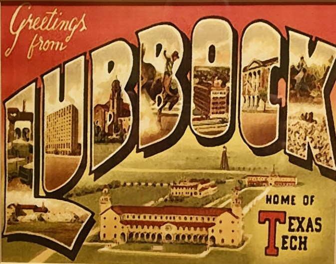 Vintage Lubbock Texas Postcard