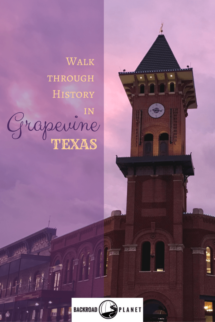 Take a walk through history in Grapevine, Texas, with self-guided tours of the Main Street District, City to Settlement Museums, and historic Nash Farm. #travel #TBIN #GrapevineTX
