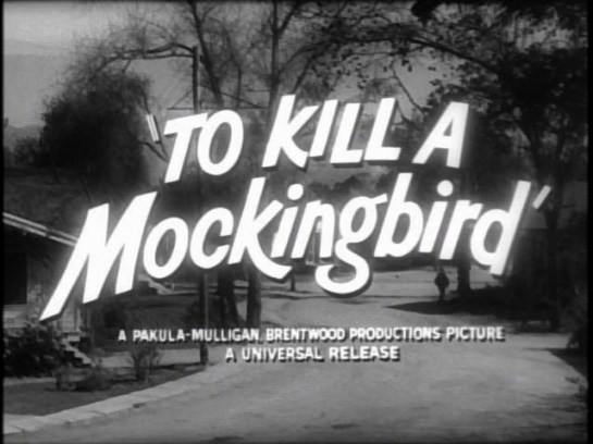 To Kill a Mockingbird title capture from trailer