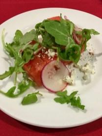 watermelon and feta cheese salad