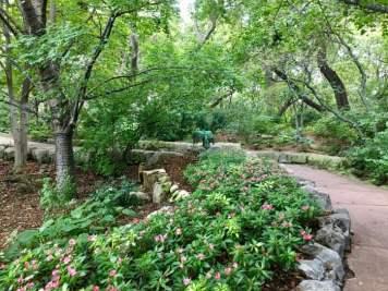 shady garden pathway