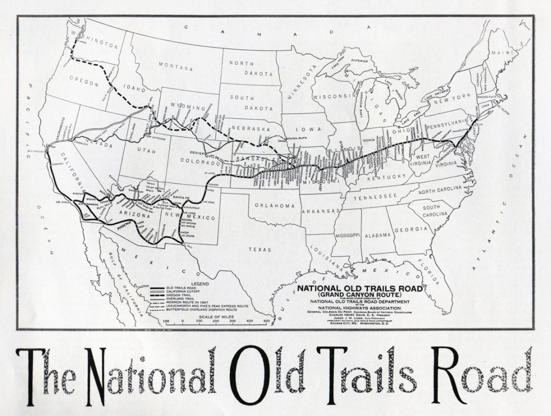 1915 National Old Trails Road Map - Drive the Kansas Flint Hills Scenic Byway