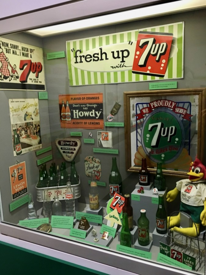 vintage 7-Up exhibit