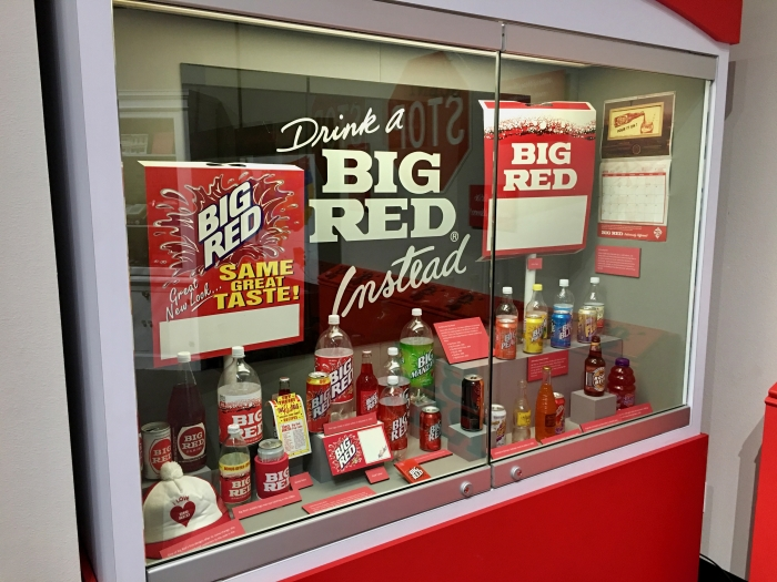 Big Red soda display