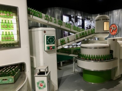7-Up bottling factory display