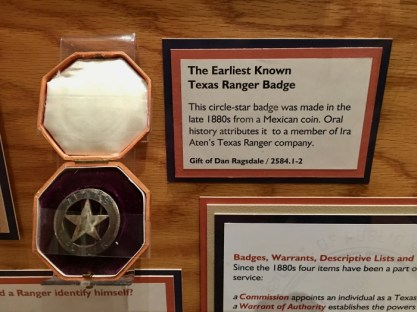 oldest Texas Ranger badge