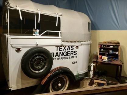 Texas Rangers horse trailer