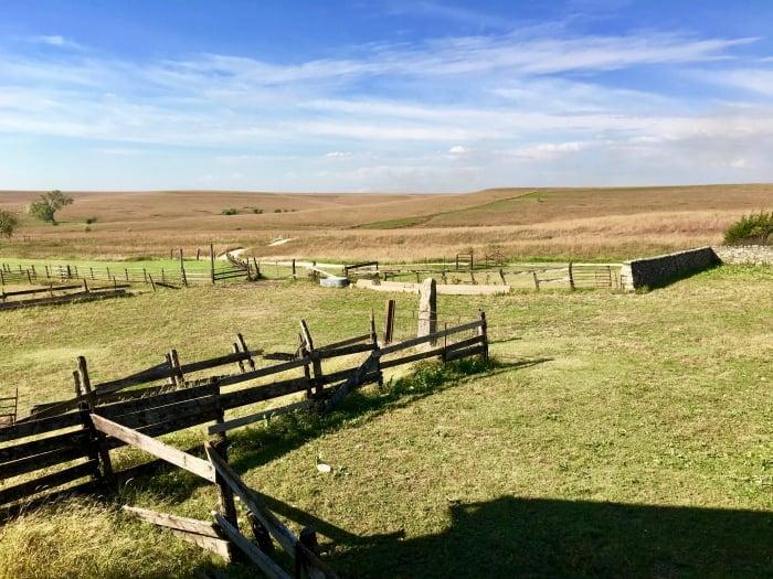 rustic fences on Kansas prairie