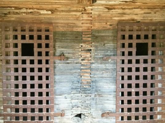 Pioneer Cowboy Jail calaboose doors