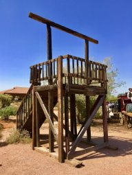 gallows at Superstition Mountain Museum