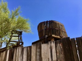 water tower at Goldfield Ghost Town Arizona
