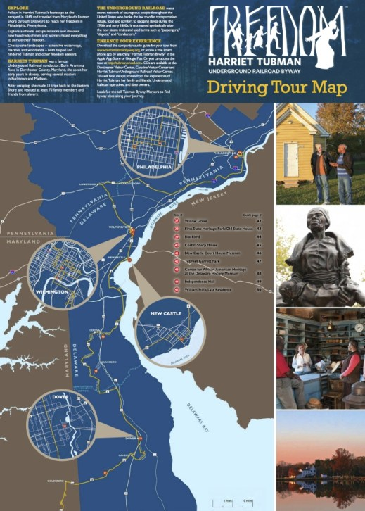 TubmanBywayMap 2017 - Drive the Maryland Harriet Tubman Underground Railroad Byway