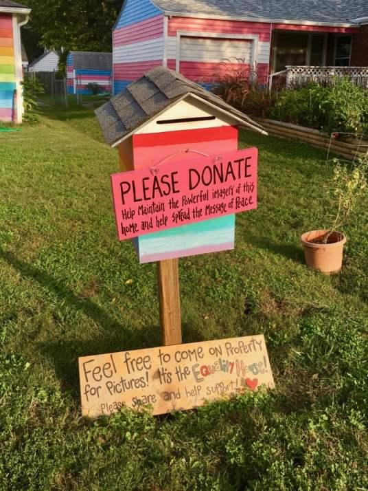 Equality House Topeka donation box