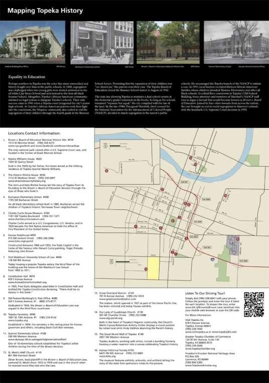 From Brown to Brown 2 - Explore Civil Rights History in Topeka, Kansas: 5+1 Key Sites