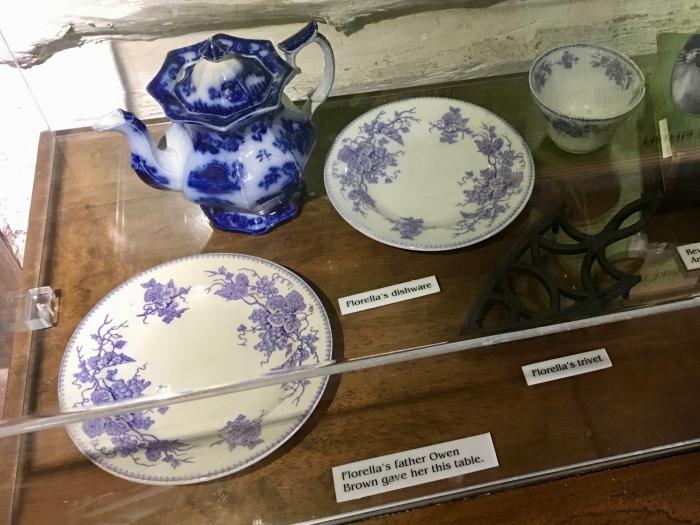 John Brown Museum Kansas dishes