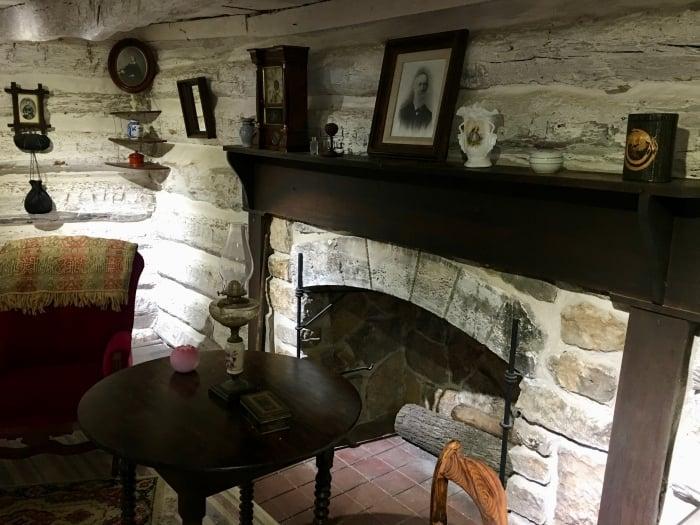 John Brown Museum Kansas fireplace
