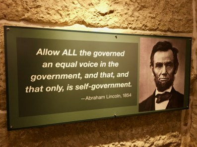 Kansas State Capitol Abraham Lincoln quote