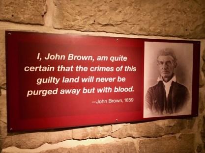 Kansas State Capitol John Brown quote