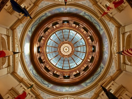 Kansas State Capitol inside dome - Explore Civil Rights History in Topeka, Kansas: 5+1 Key Sites