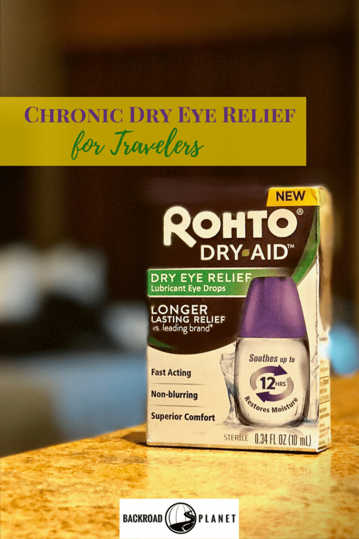Rohto Dry-Aid™ provides chronic dry eye relief for roadtrippers, frequent fliers, and other travelers for up to 12 hours.