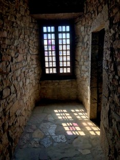 sunlight through a castle window