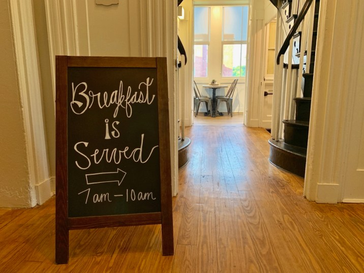 Blackburn Inn Breakfast Sign - Fun Things to Do in Staunton Virginia