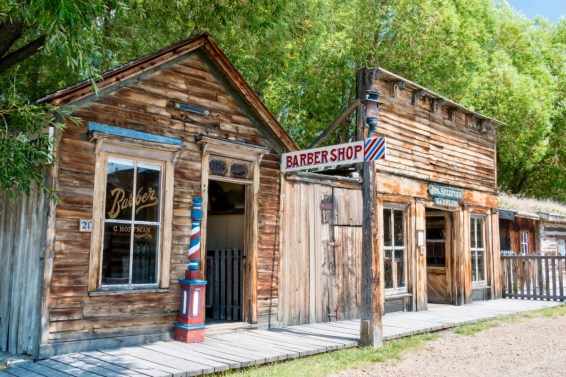 Nevada City Barber Shop Front