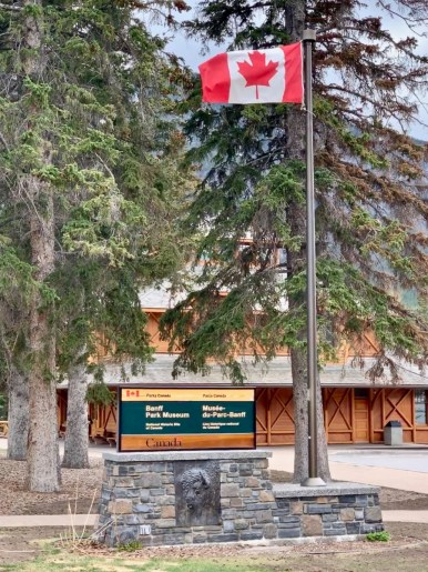 Banff Park Museum Sign Flag - The Best Sites & Activities for a Town of Banff Adventure