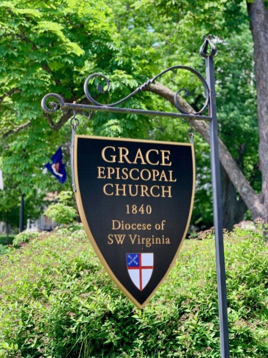 Grace Episcopal Church Lexington Sign - Scenic & Historic Things to Do in Lexington, Virginia