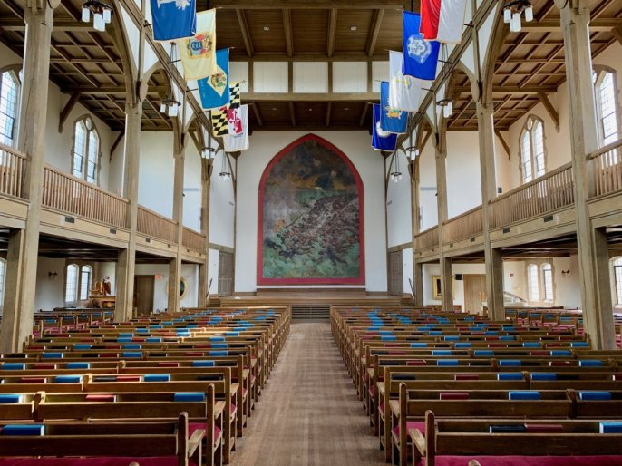 VMI Jackson Memorial Hall Interior - Scenic & Historic Things to Do in Lexington, Virginia