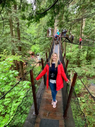 Claudia Laroye at Capilano Suspension Bridge Park
