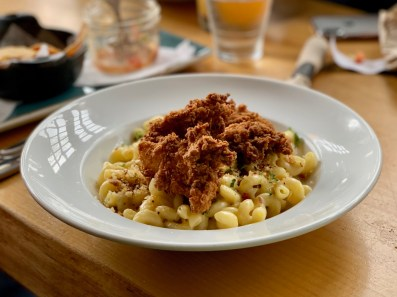 Fried Chicken Mac & Cheese from Tap & Barrel