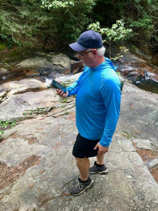 Howard Blount hiking Mill Creek Falls - North Georgia Swimming Holes & Waterfalls You Can Swim In