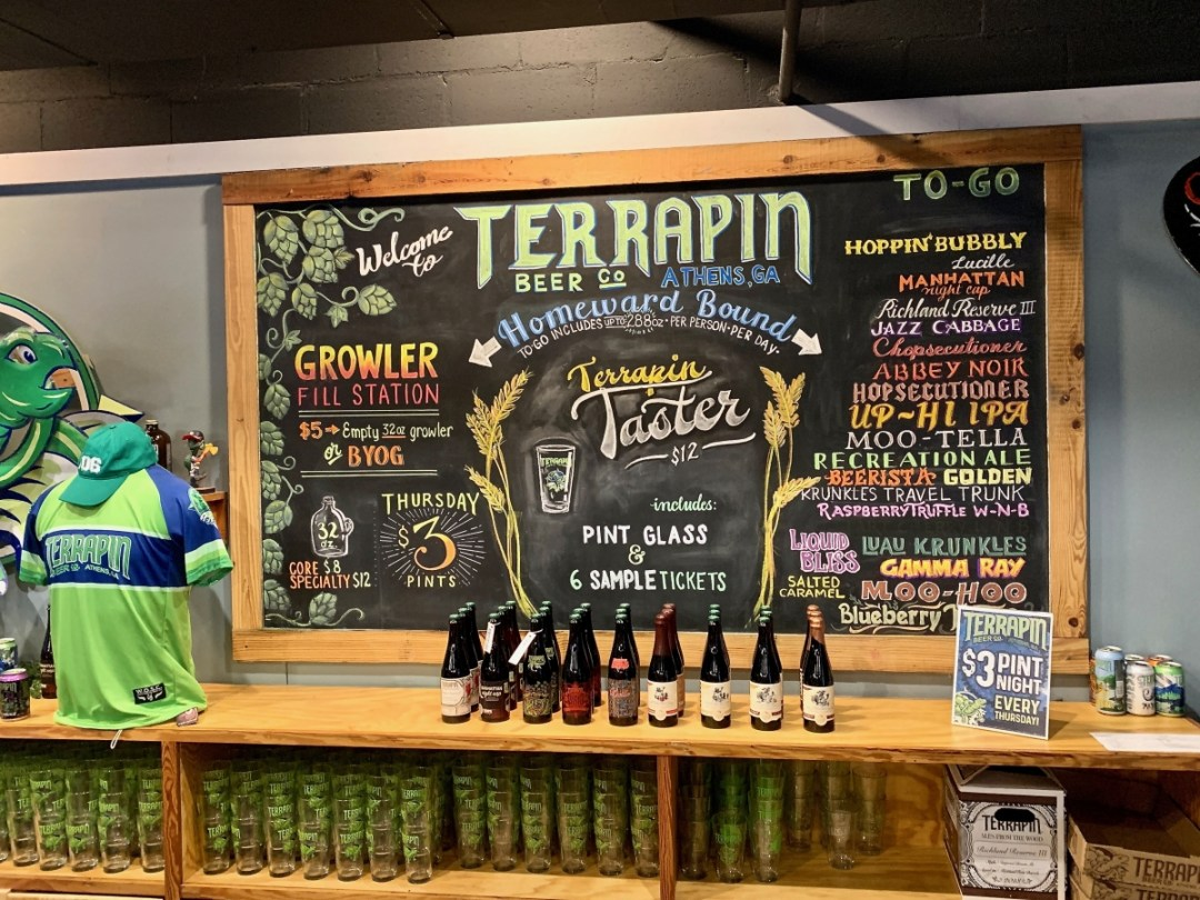Terrapin Brewery Athens Menu Board - 18+ Outstanding Athens Georgia Attractions