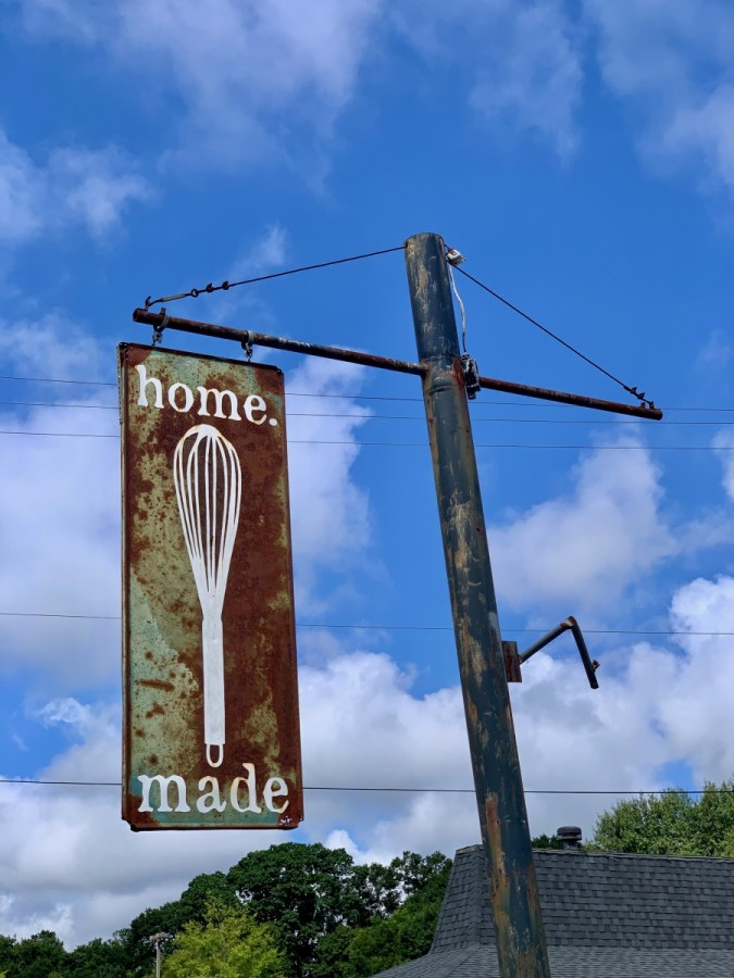 home.made sign Athens