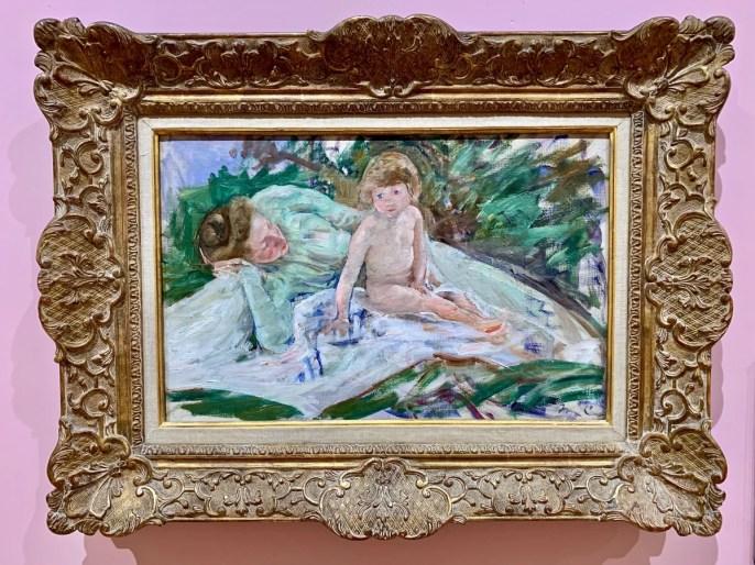 Cassatt Sun Bath painting