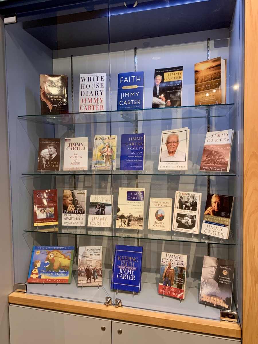 Jimmy Carter Books display