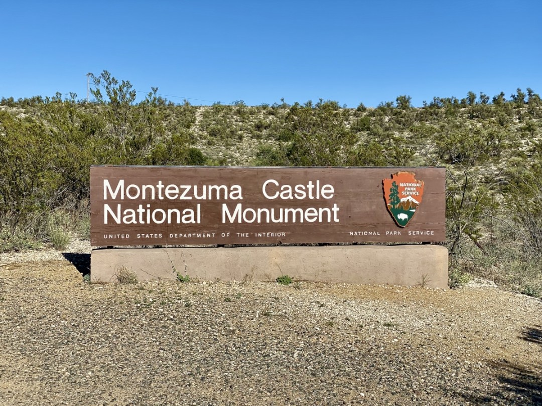 Montezuma Castle National Monument sign - Things to Do on a Drive from Phoenix to Flagstaff, Arizona