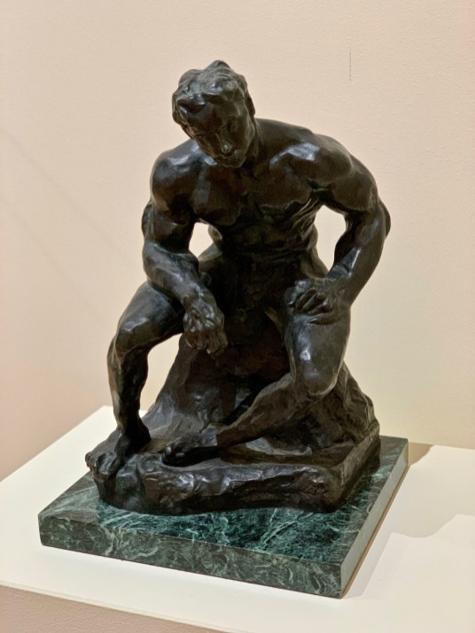 Rodin L'Athlete sculpture