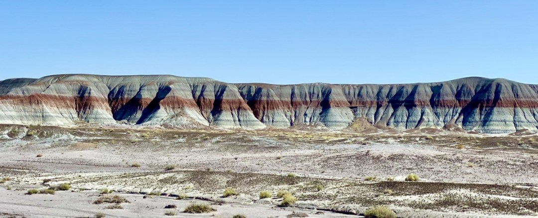 Painted Desert Distant Blue Mesa - Drive the Painted Desert & Petrified Forest National Park