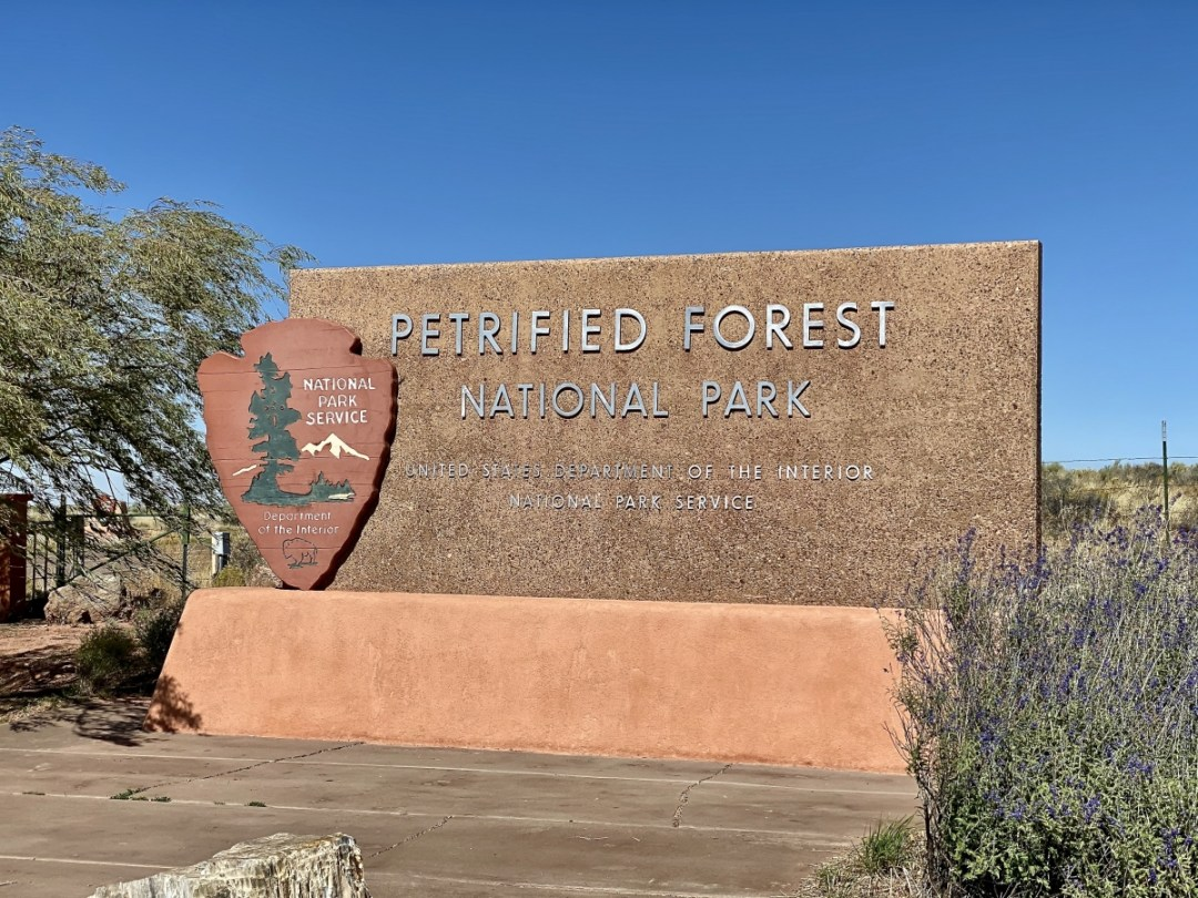 Petrified Forest NP sign - Drive the Painted Desert & Petrified Forest National Park
