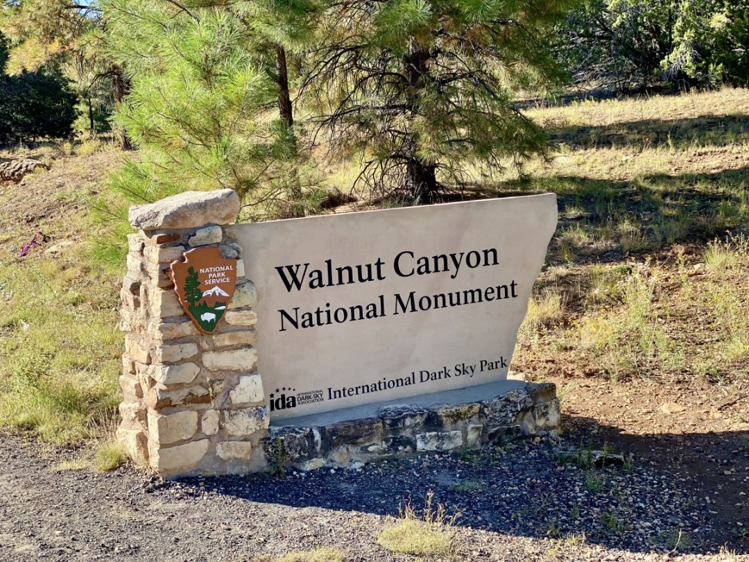 Walnut Canyon NM sign - 3 Magnificent Flagstaff National Monuments